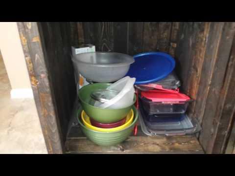 Homemade kitchen pantry