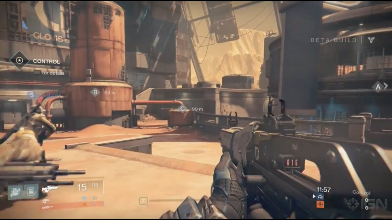 Destiny beta gameplay blind watch crucible multiplayer mars map