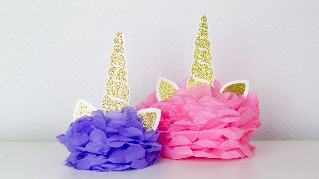 Diy Unicorn Centerpiece For Unicorn Party Simply Dovie Youtube