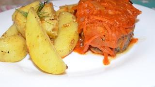 Картофель(по деревенски) дольками в духовке(Вкусняшки от Ксюняшки)