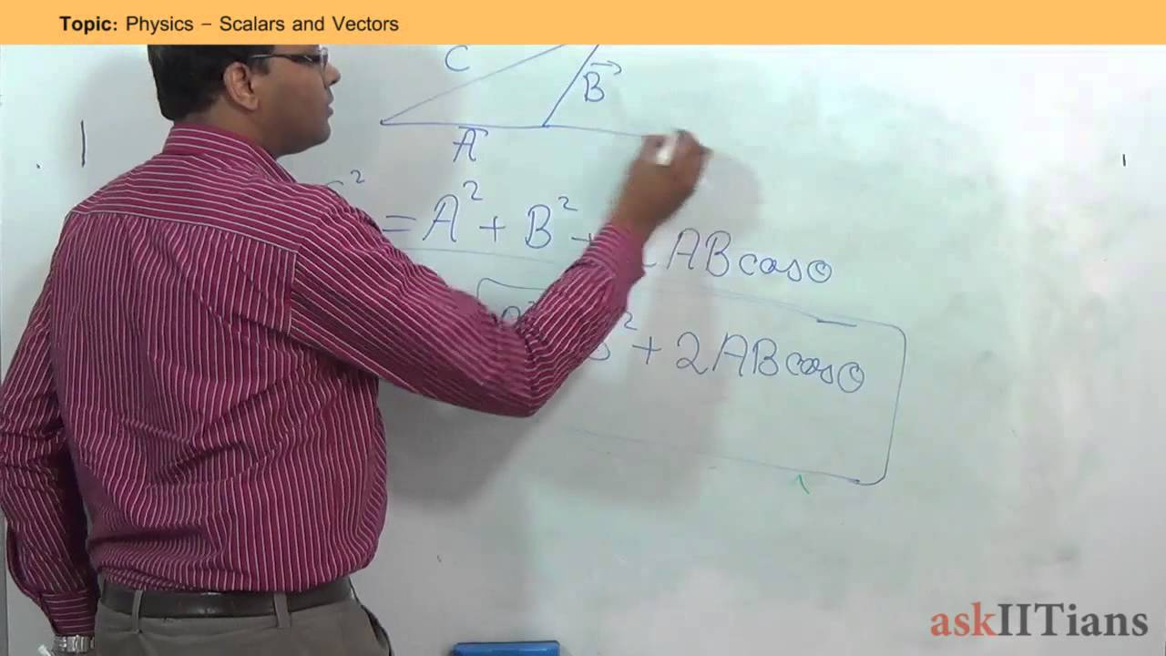 Scalar and Vector -Study Material for IIT JEE | askIITians