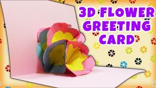 3d Flower Pop Up Greeting Card | Amazing Paper Crafts | Easy Diy Gift Ideas | Hooplakidz How To