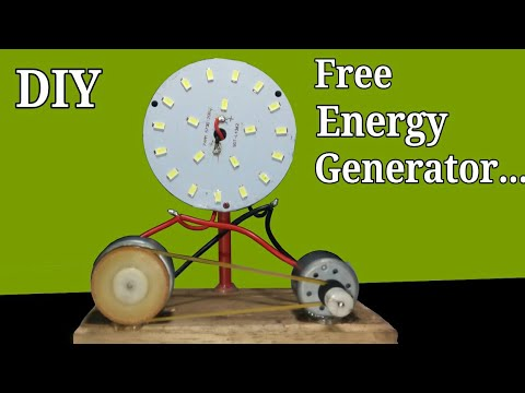 Free Energy Generator DC 12V LED Light 100%