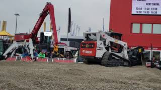 Video still for Bobcat Remote Control Compact Track Loader Demo at bauma 2019