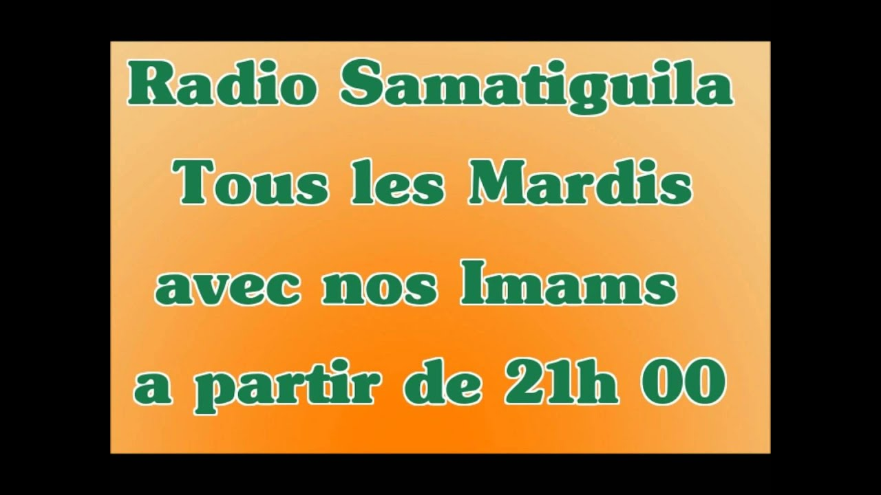 Imam Moustapha Sy AlBalq sur Radio Samatiguila Popular 100