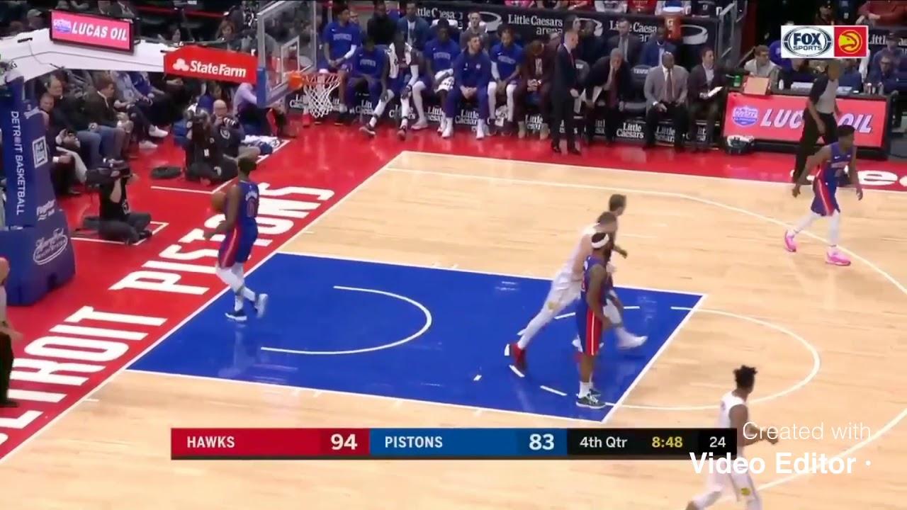 Hawks Vs Pistons 4th Quarter Highlights