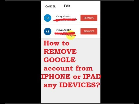 How to REMOVE GOOGLE account from IPHONE or IPAD any IDEVICES? Mp3