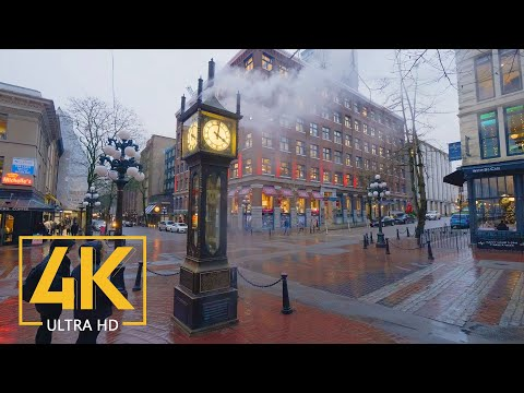 4K Virtual Walking Tour through Downtown Vancouver, Canada - City Walks