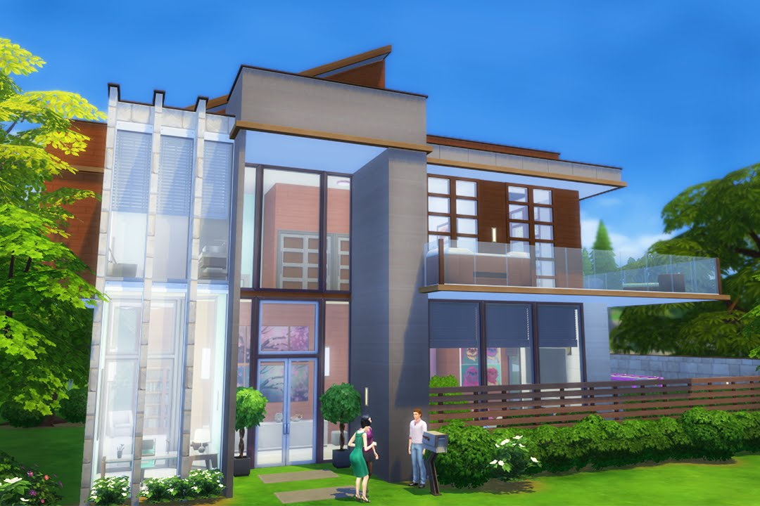 The sims 4 build modern diamond house youtube for What is needed to build a house