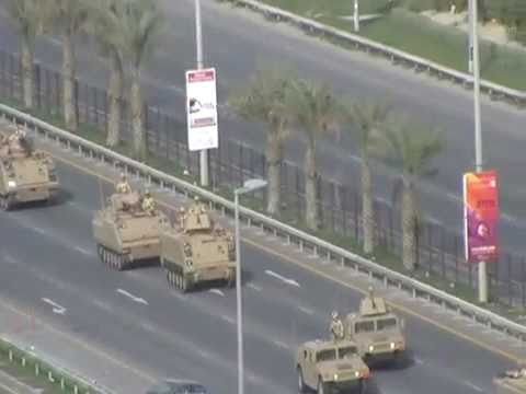 Lulu Roundabout Protest - Bahrain - Tanks arriving