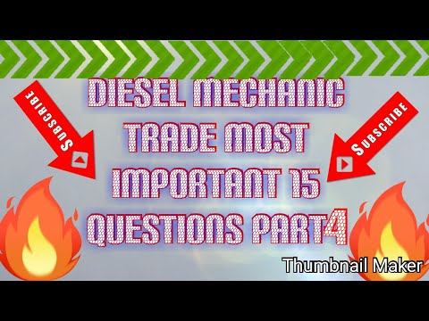 Download Diesel mechanic trade most important 15 question s