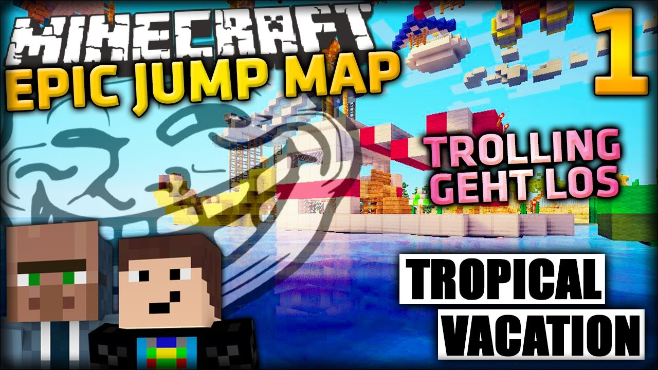 Minecraft Epic Jump Map 1 Swag Mit Gommehd Operation Tropical