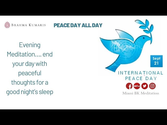9pm closing meditation : Peace Day All Day