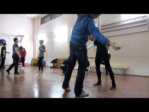 Упражнения  на танец Zouk - class  in dance studio DancA 05 12 14