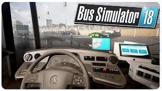 Disgruntled Bus Driver Yells at Passengers! - Bus Simulator 18 Gameplay (Licensed Game)