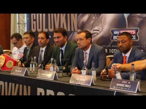 GENNADY GOLOVKIN V KELL BROOK - FULL FINAL (UNCUT) PRESS CONFERENCE / GOLOVKIN V BROOK