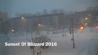 Blizzard Jonas 2016 Time Lapse VIDEO of NYC Sunset