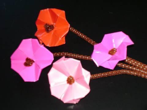 Manu gami manualidades de papel flores de cerezos - Youtube manualidades de papel ...