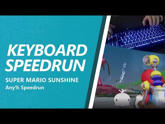 Super Mario Sunshine - Any% Speedrun with a keyboard