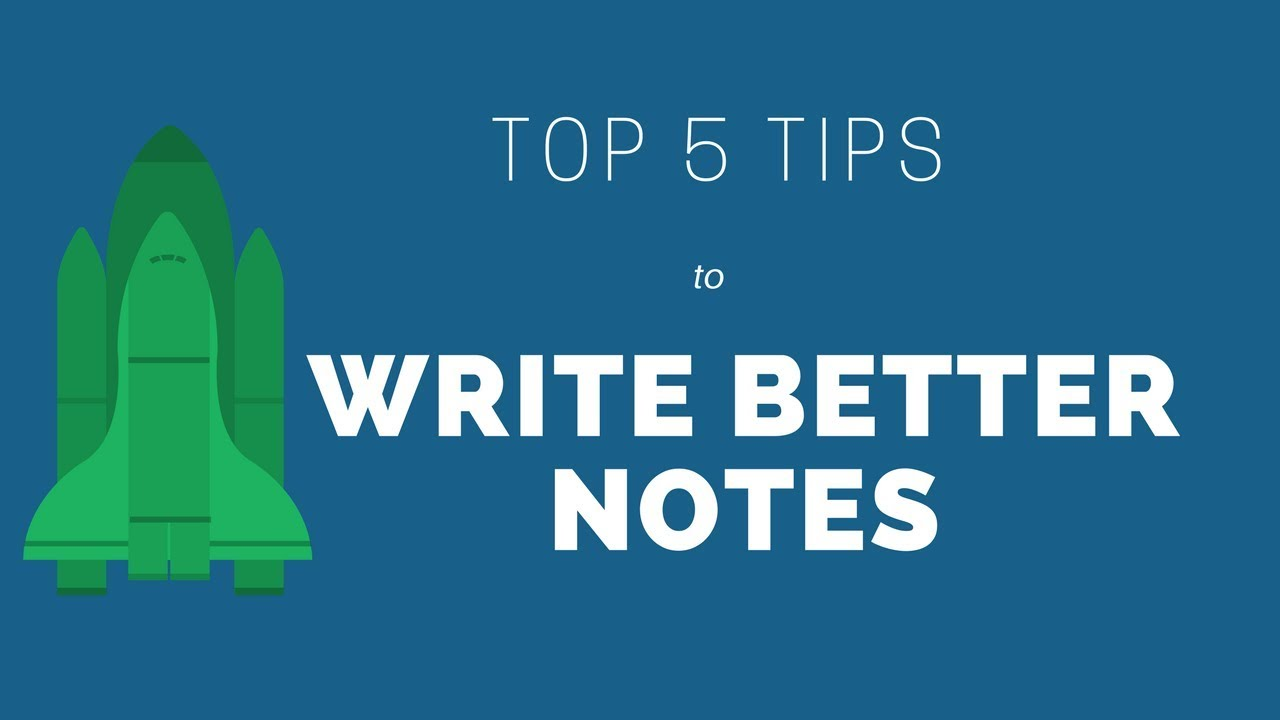 top 5 tips to write better notes free h p template pdf youtube