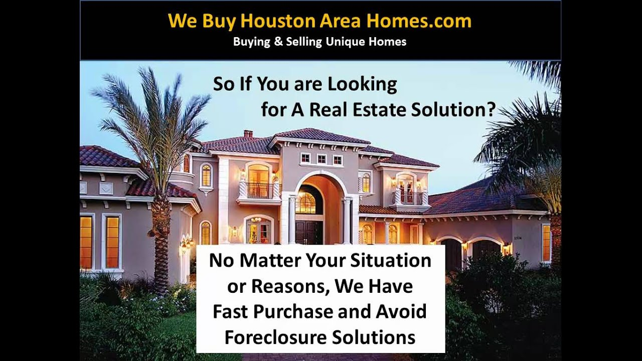 We Buy Houses In Kingwood TX Fast Cash For Sell My Home
