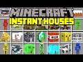 Minecraft INSTANT HOUSES MOD! | SPAWN HOUSES, BASES, BUILDINGS, VILLAGES, & MORE! | Modded Mini-Game