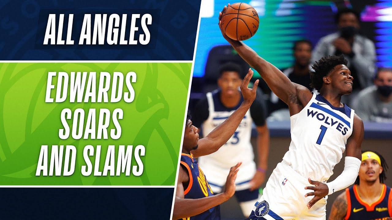 All-Angles: ANTHONY EDWARDS TAKES FLIGHT! 👀