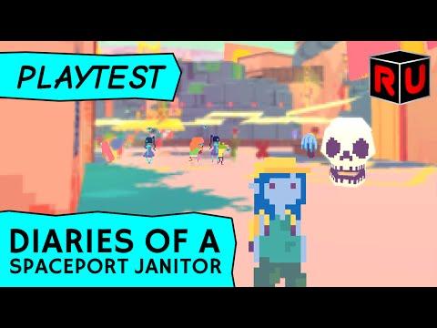 Diaries of a Spaceport Janitor beta gameplay: Trash-burning RPG! (PC Let