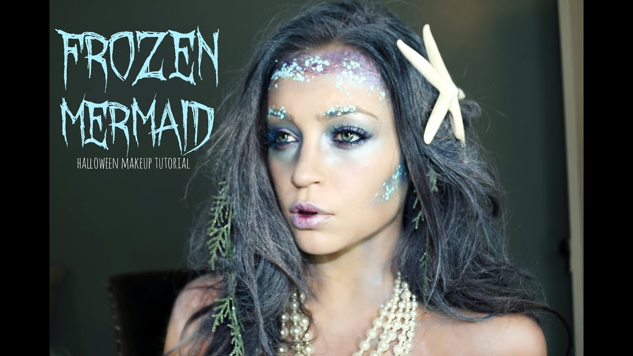 frozen mermaid halloween makeup tutorial youtube