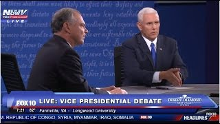 FNN: Vice Presidential Debate - Farmville, Virginia - Tim Kaine - Mike Pence