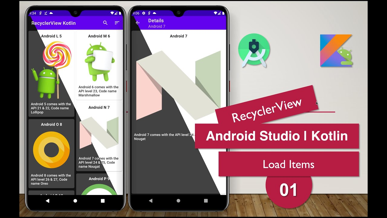 RecyclerView | 01 Load Items | Android Studio | Kotlin