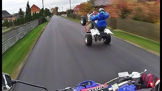 GANG QUADÓW: STREET WHEELIE ATV - Yamaha Raptor 700 Riding Movie