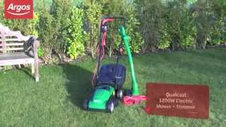 Qualcast Electric 1200W Lawnmower and 250W Grass Trimmer Argos Review