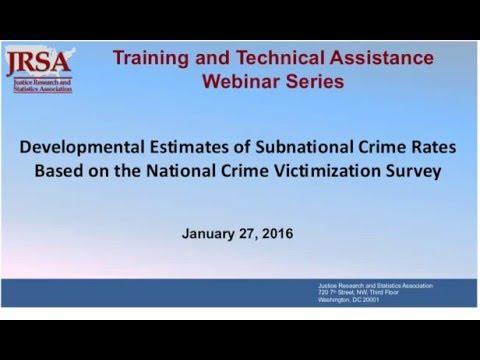Developmental Estimates of Subnational Crime Rates Based on the National Crime Victimization Survey