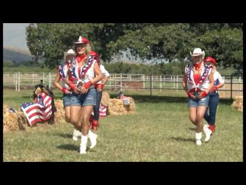 """Rodeo Girls Linedancers South Africa with Armand """"Ride like a Cowboy"""" with his horse Ferm"""