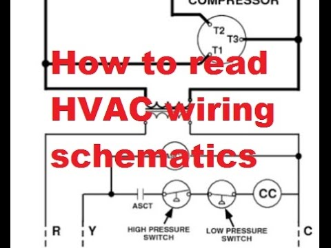 hvac reading air conditioner wiring schematics youtube rh youtube com wiring diagram for a car trailer wiring diagram for a capacitor start motor