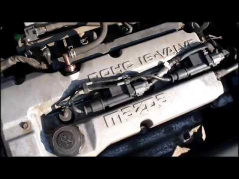 2001 Mazda Protege EGR removal, clean and change (P0401 error code