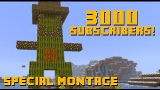 מונטאז' הרפתקאות מיינקראפט | ספיישל 3000 סאבים + 100 סרטונים