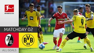 Famous Victory over Dortmund Freiburg Dortmund 2 1 All Goals Matchday 2 Bundesliga 2021 22