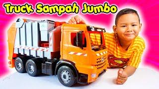 Unboxing Mainan Truk Sampah Besar | Lena Mega Truck