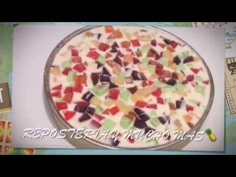 50 Personas Gelatina De Piña???? Colada Tres Leches  En Mosaico
