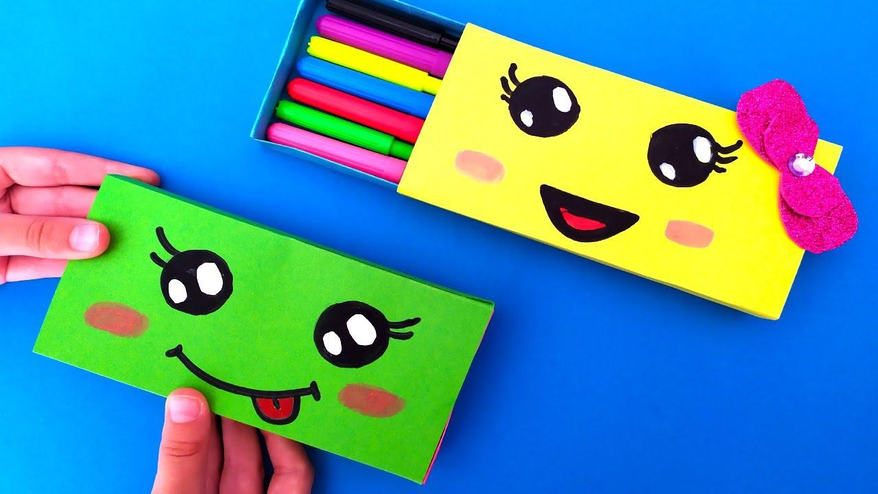 DIY Paper Pencil Box Idea | How to make a paper pencil case | Origami | Easy Origami tutorial