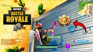 SECRET BATTLE STAR TEMPORADA 5 SEMANA 5 GUIA DE LOCALIZAÇÃO FORTNITE BATTLE ROYALE (ROAD TRIP DESAFIOS)