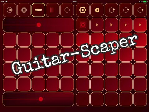 GUITARSCAPER Beatiful Ambient Musical Instrument Demo for the iPad