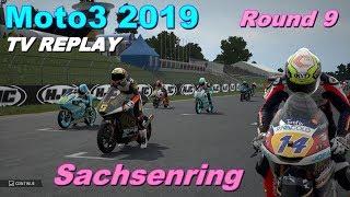 Moto3 Sachsenring 2019 | Championship #9 | TV REPLAY | MotoGP 19 PC GAME