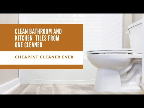 Clean Bathroom Kitchen And Floor Tiles And Taps Easily Tiles Cleaning Tips From One Cleaner Youtube