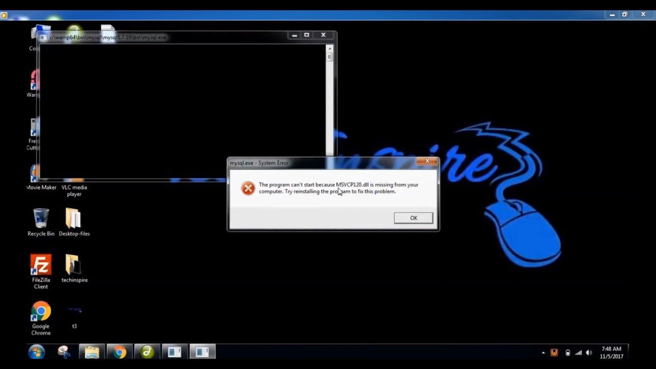 msvcr120.dll missing windows server 2016
