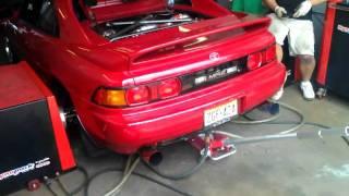 MR2 Turbo dyno pull