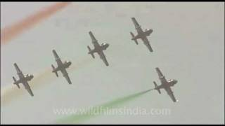 Indian tri-colour displayed on Air Force Day, India