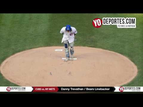 Chicago Bears Linebacker Danny Trevathan throws first pitch Cubs